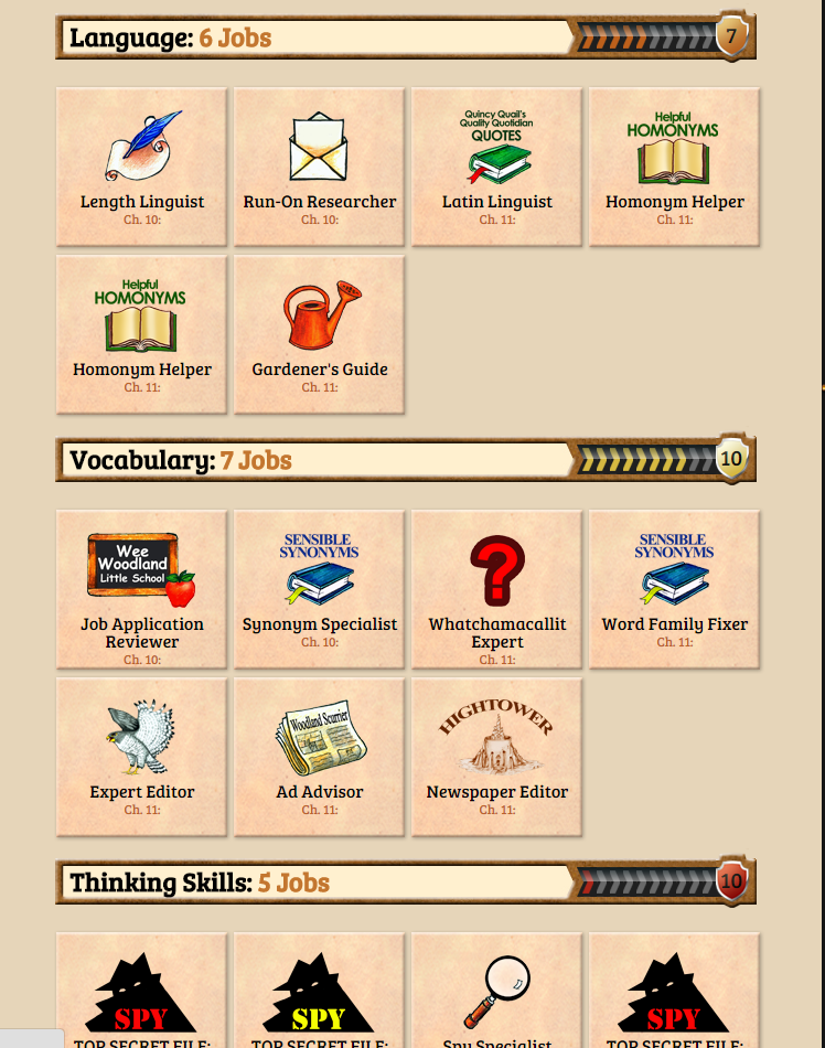 Vocabulary weiser academy the student can keep track of the open jobs and the jobs they have completed and what chapter in the book they correlate with as well as what academic fandeluxe Images