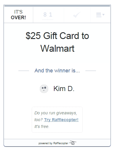 $25 giveaway April 2015