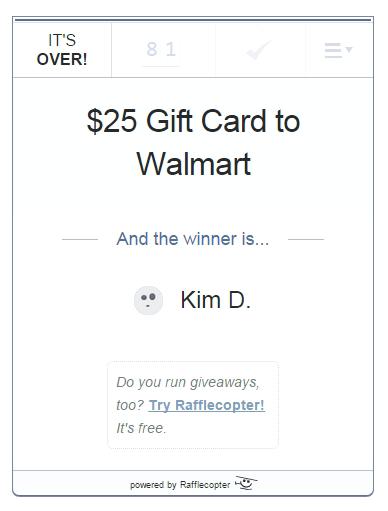 $25 giveaway April 2015