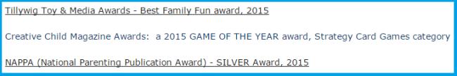 Awards Won By Wonky (source)
