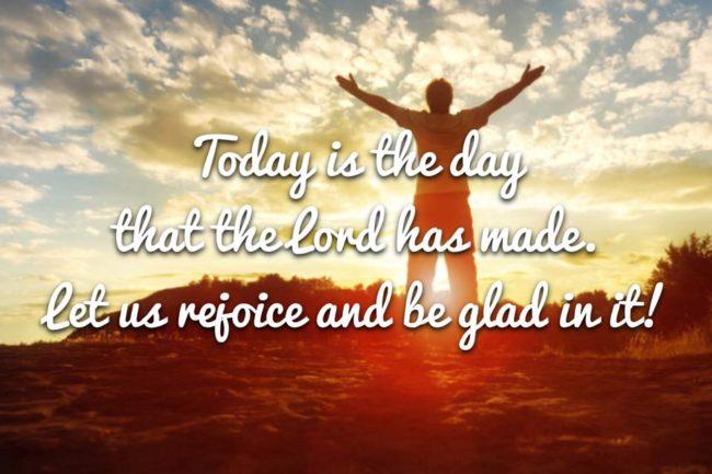 Rejoice & Be Thankful!