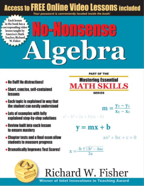 Math weiser academy math essentials no nonsense algebra review fandeluxe Images