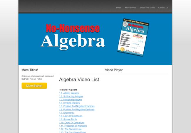 Math Essentials: No Nonsense Algebra Review | Weiser Academy